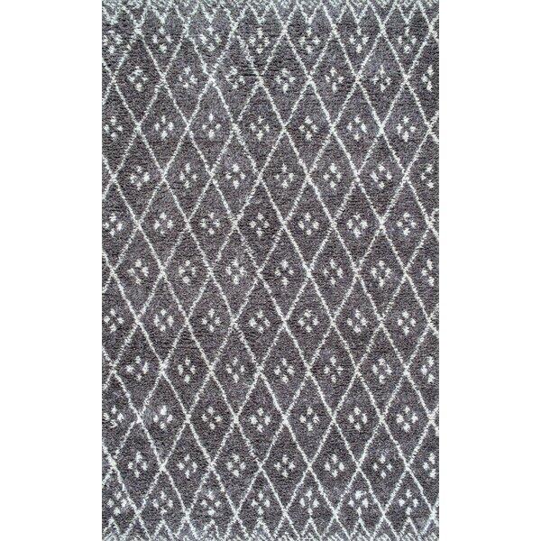 Fearon Hand-Tufted Gray Area Rug by Brayden Studio