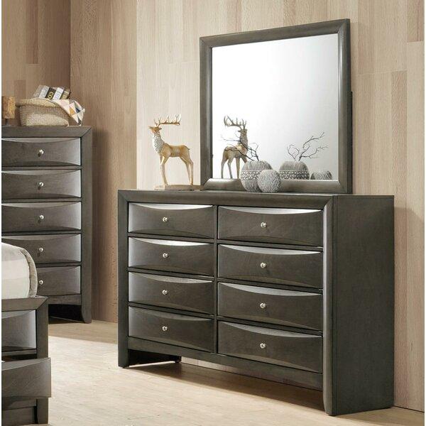 Weidman 8 Drawer Double Dresser with Mirror by Latitude Run