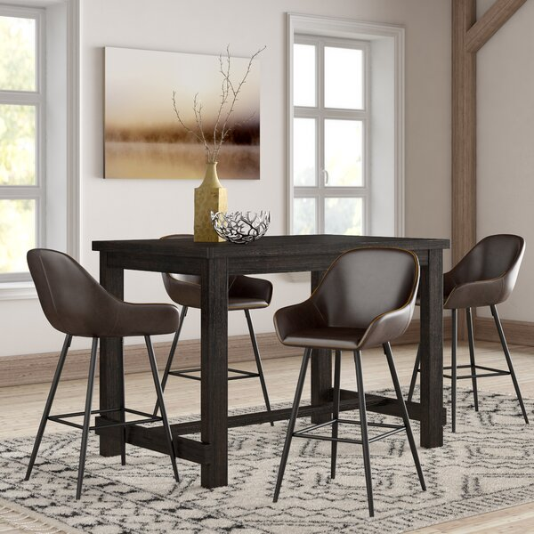 Best  Shoemaker 5 Piece Pub Table Set By Union Rustic Purchase