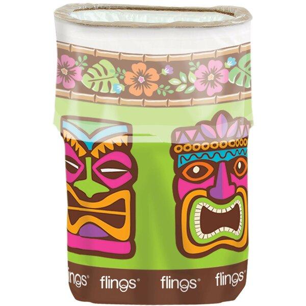 Summer Luau Tiki Fling 13 Gallon Trash Can by Amscan