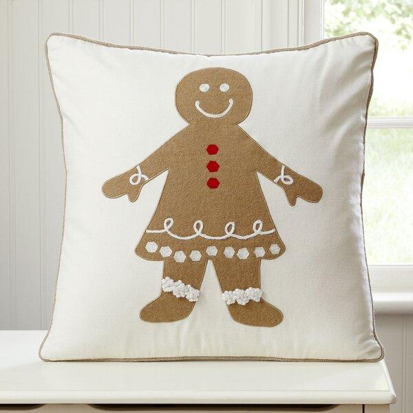 Gingerbread Girl Pillow Cover by Birch Lane Kids™