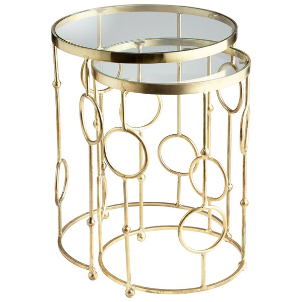 Perseus 2 Piece Nesting Tables By Cyan Design