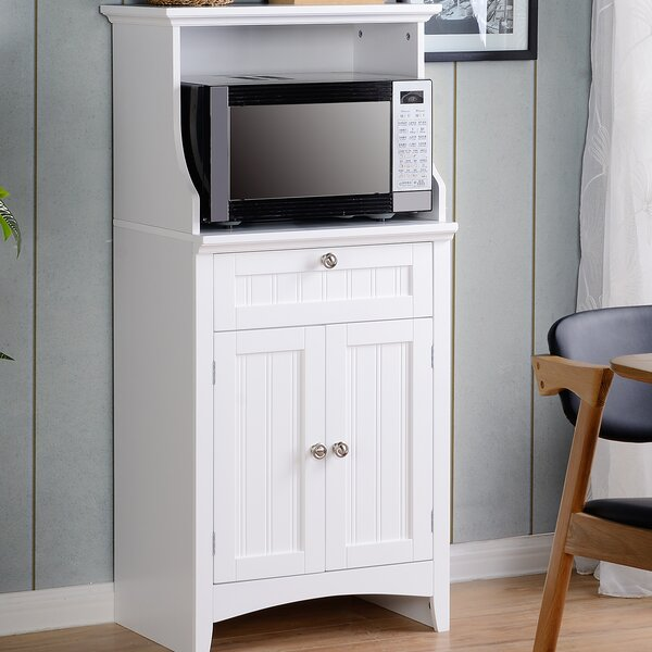 Swanscombe Microwave/Coffee Maker Kitchen Island by Highland Dunes