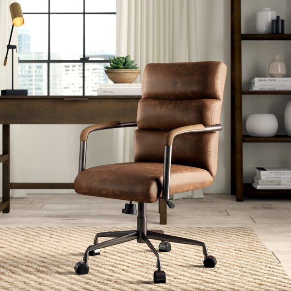 Springtown Genuine Leather Executive Chair by Greyleigh