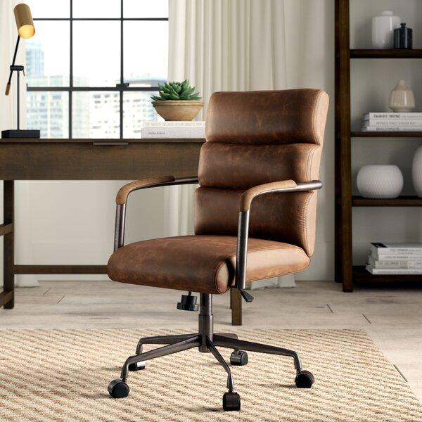 Springtown Genuine Leather Executive Chair by Greyleigh
