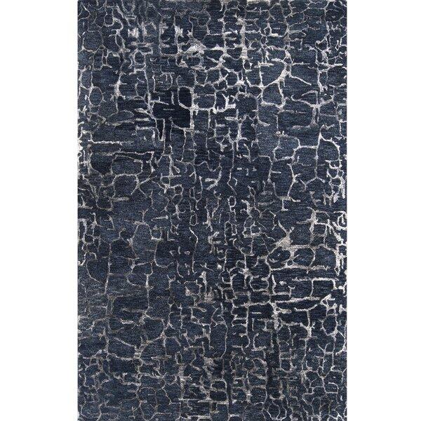 Kymani Hand-Tufted Dark Blue Area Rug by Brayden Studio