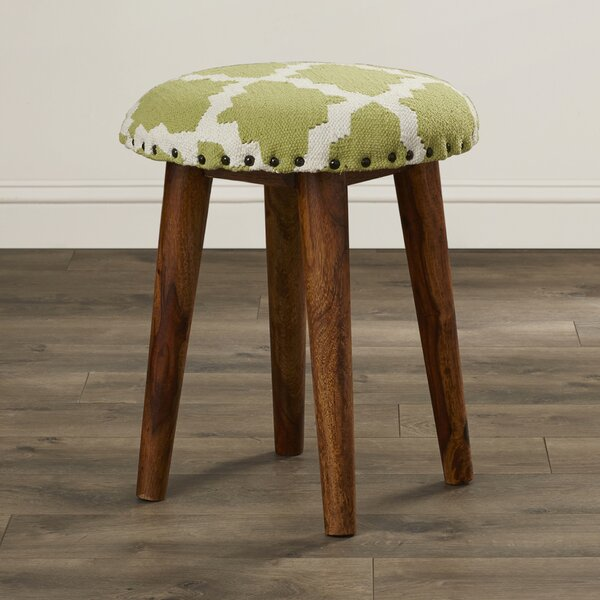 Rochon Cotton Upholstered Vanity Stool by Bungalow Rose