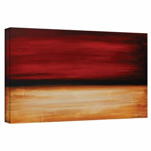 'Desertsunset' Painting Print on Wrapped Canvas by Zipcode Design