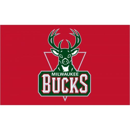 NBA Milwaukee Bucks Polyester 3 x 5 ft. Flag by NeoPlex