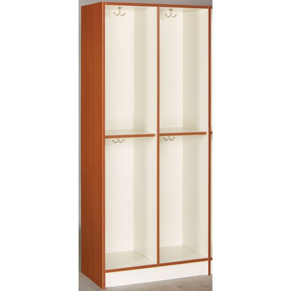 2 Tier 2 Wide Coat Locker by Stevens ID Systems