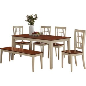 Nicoli 6 Piece Dining SetEast West Furniture Kitchen   Dining Room Sets You ll Love   Wayfair. Nico Counter Height Dining Stool. Home Design Ideas