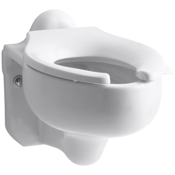 Sifton Wall-Mounted 3.5 GPF Water-Guard Flushometer Valve Elongated Blow-Out Toilet Bowl with Rear Inlet, Requires Seat by Kohler