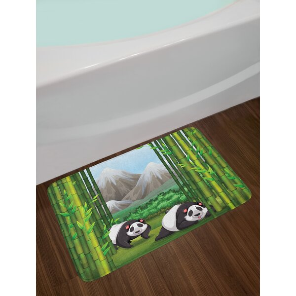 Panda Tropical Bath Rug by East Urban Home