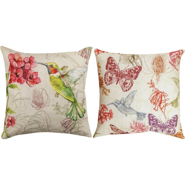 Natural Curiosities Hummingbird Throw Pillow by Manual Woodworkers & Weavers