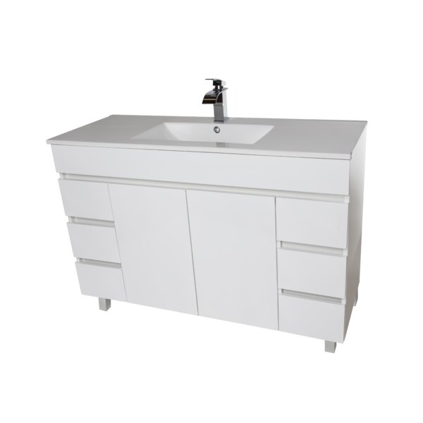Loftin 49 Wall Mounted Single Bathroom Vanity Set by Ivy Bronx