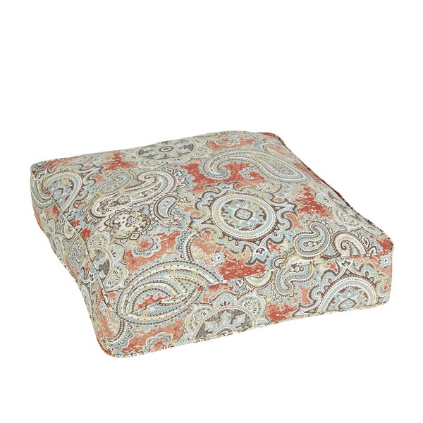 Lebaron Paisley Piped Outdoor Floor Pillow by Three Posts