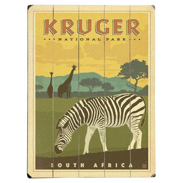 Kruger National Park Vintage Advertisement Multi-Piece Image on Wood by Artehouse LLC