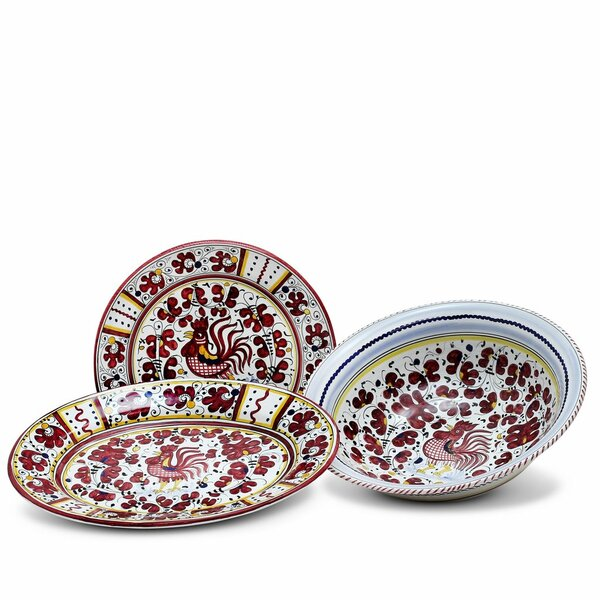 Allaire Rooster 3 Piece Place Setting, Service for 1