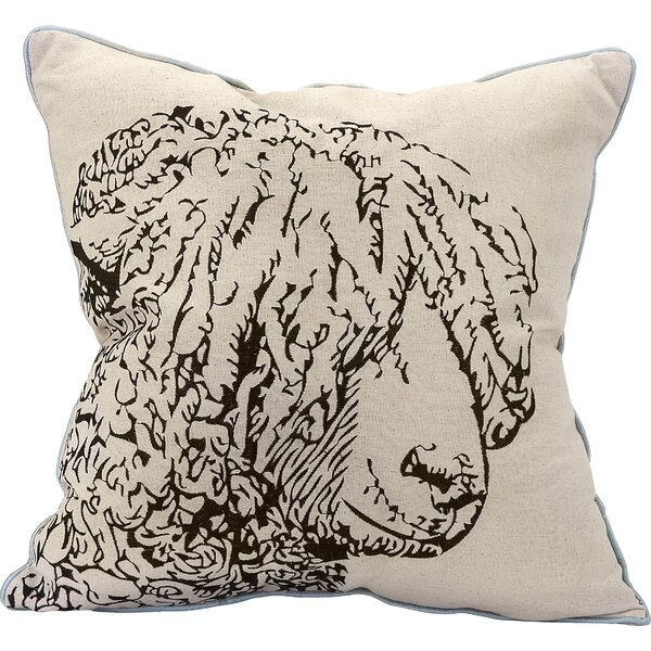 Magdalena Sheep Embroidered Indoor/Outdoor Throw Pillow by Gracie Oaks