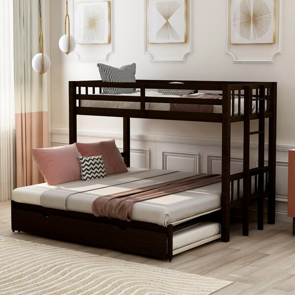 Woodbury Twin Over Twin Bunk Bed With Trundle By Harriet Bee