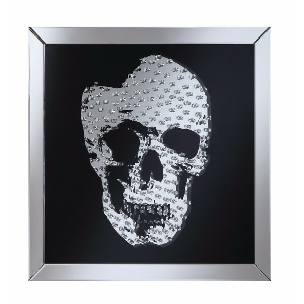 Gentner Adorning Jeweled Skull Wall Accent Mirror by Wrought Studio