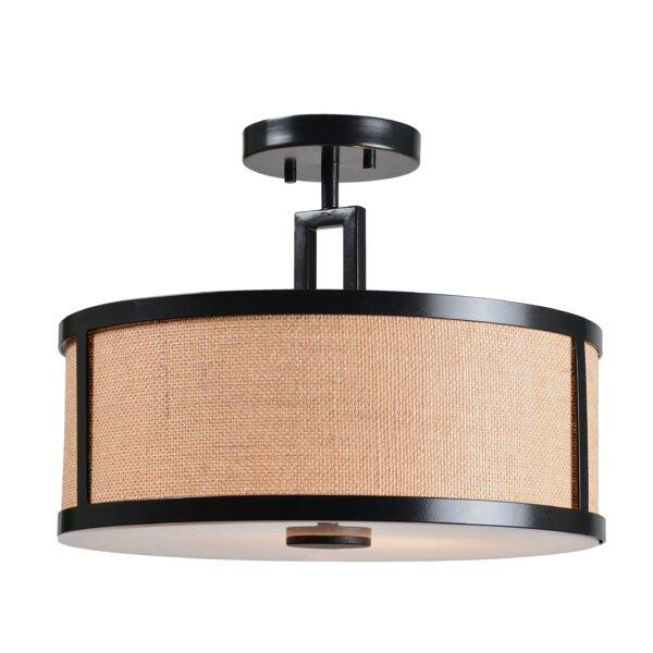 Gerard 2-Light Semi-Flush Mount by Wildon Home ®