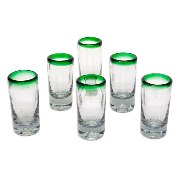 Javier and Efrén 1 Oz. Shot Glass (Set of 6) by Novica