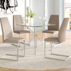 Eta Contemporary 5 Piece Table Set