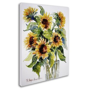 Sunflowers by Rita Auerbach Painting Print on Wrapped Canvas by Trademark Fine Art