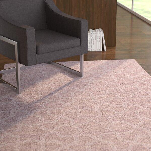 Dobson Handmade Lilac Area Rug by Ebern Designs