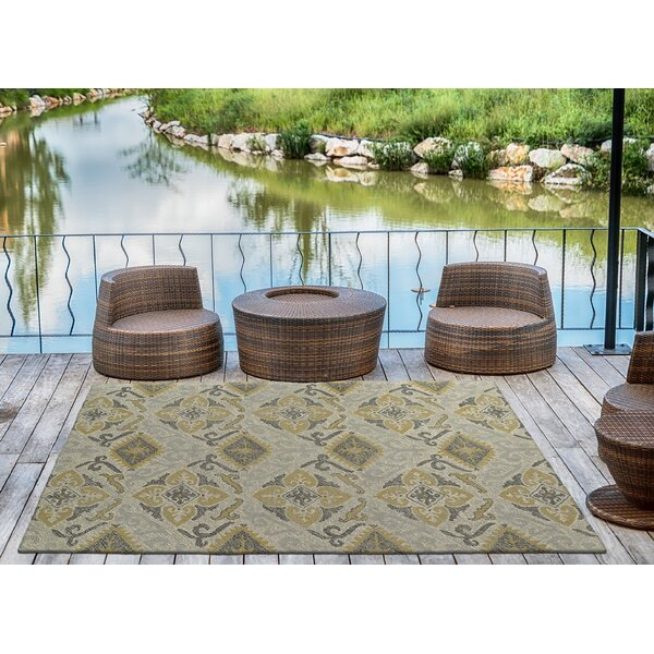 Dittmar Handmade Spa/Gold Indoor/Outdoor Area Rug by Charlton Home