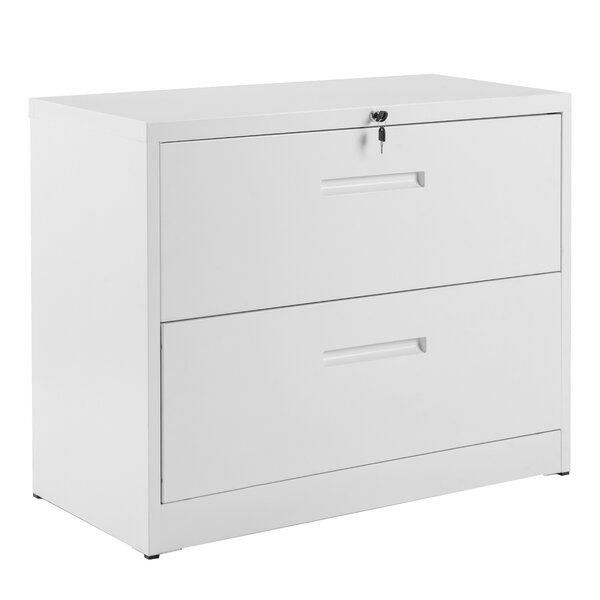 Altynai Heavy Duty 2 Drawer Lateral Filing Cabinet