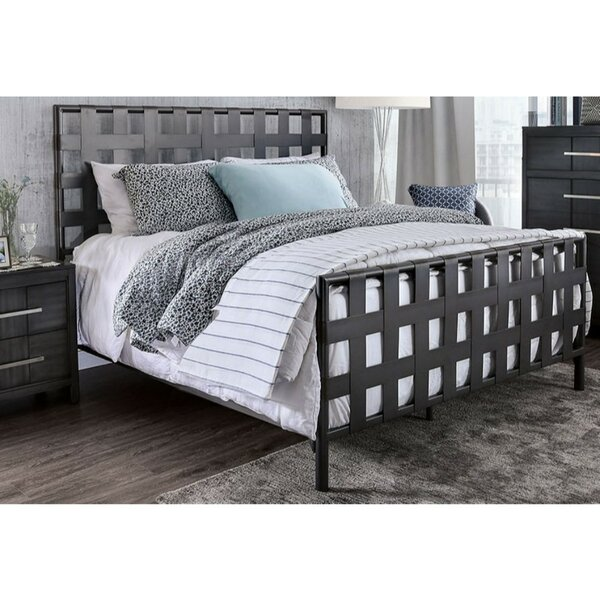 Muth Industrial Metal Queen Standard Bed by Williston Forge