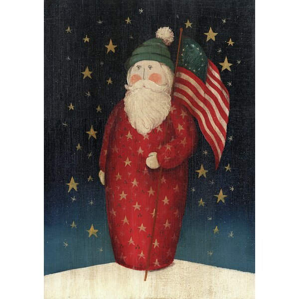 Flag Waving Santa Garden flag by Toland Home Garden