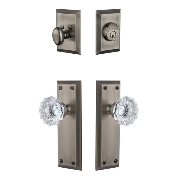 Fifth Avenue Single Cylinder Knob Combo Pack by Grandeur