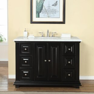 Coupon Reign 48 Single Sink Bathroom White Marble Vanity Set ByDarby Home Co