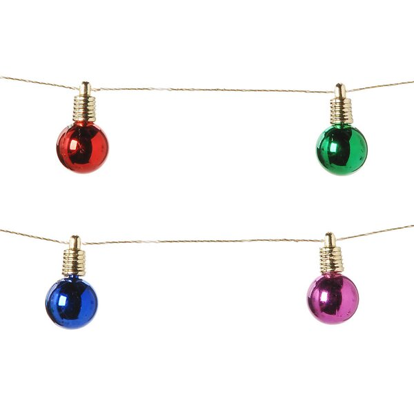 Shiny Bulbs Garland by The Holiday Aisle