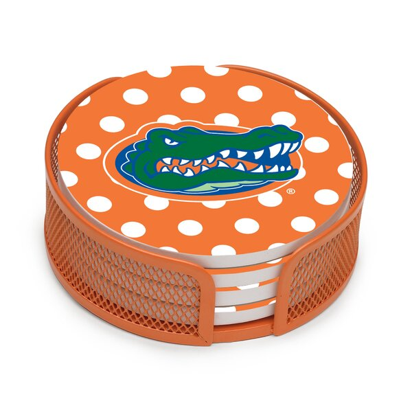 5 Piece University of Florida Dots Collegiate Coaster Gift Set by Thirstystone