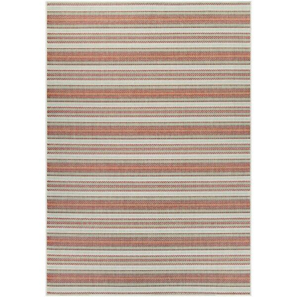 Wexford Marbella Coral/Ivory Indoor/Outdoor Area Rug by Beachcrest Home