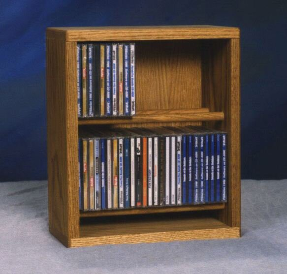 200 Series 52 CD Multimedia Tabletop Storage Rack by Wood Shed