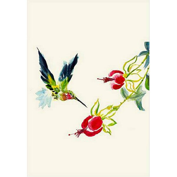 Hummingbird Vertical Flag by Betsy Drake Interiors