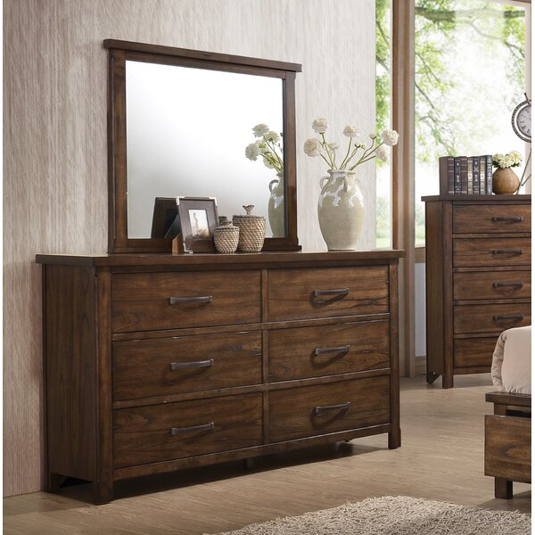 Drakes 6 Drawer Double Dresser with Mirror by Gracie Oaks