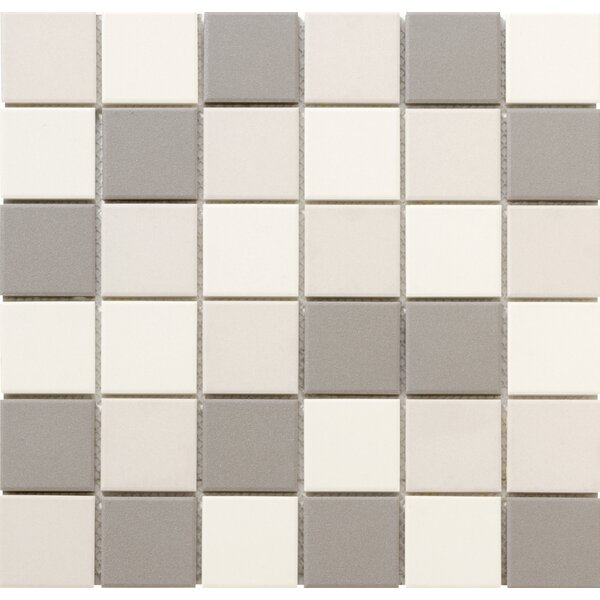 Zone Blend 2 x 2 Porcelain Mosaic Tile in Matte Light by Emser Tile