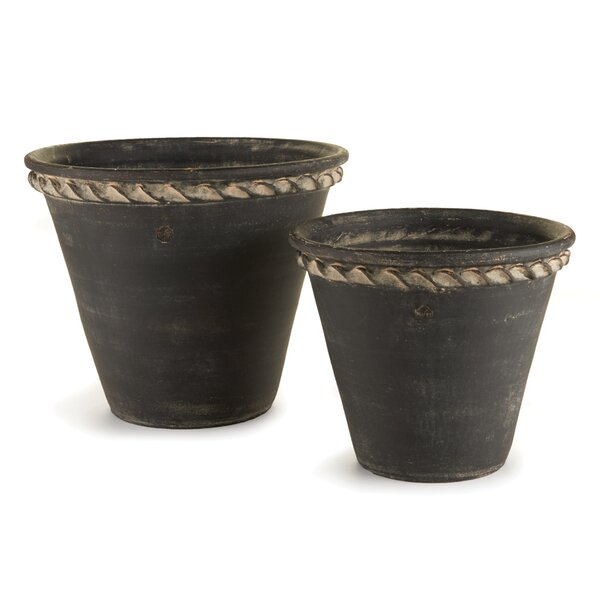 Amd 2-Piece Clay Pot Planter Set by One Allium Way