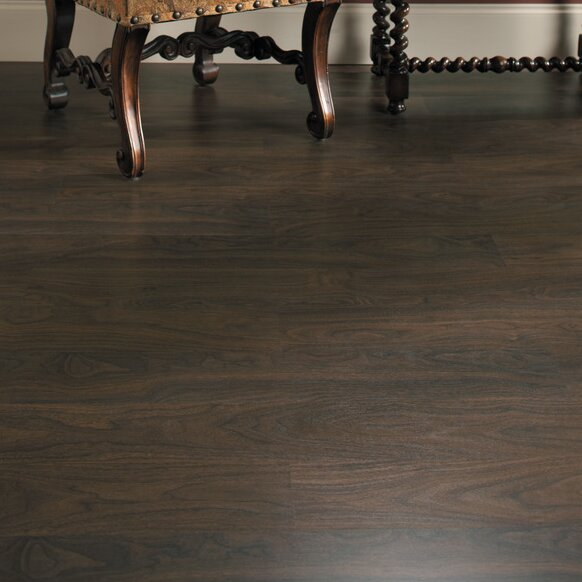 Eligna 6 x 54 x 8mm Walnut Laminate Flooring in Chocolate Walnut Planks by Quick-Step