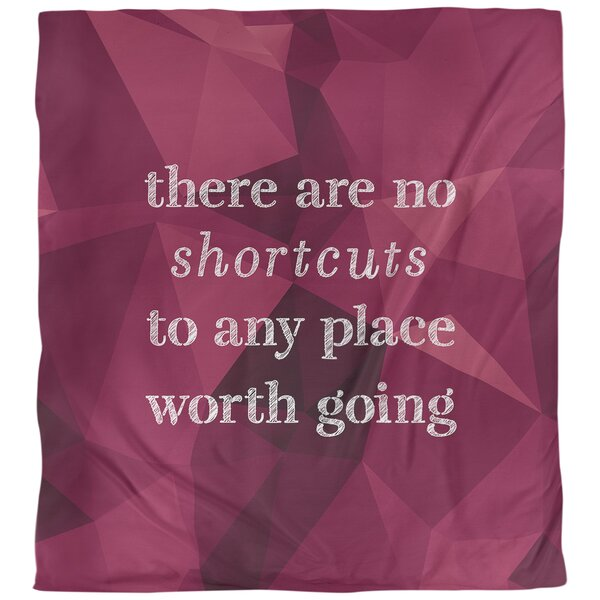 No Shortcuts Quote Single Duvet Cover