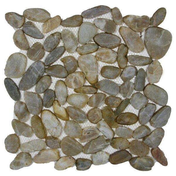 Yenisei Random Sized Natural Stone Mosaic Tile in Gray by CNK Tile