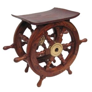 Ship Wheel End Table by Fi..