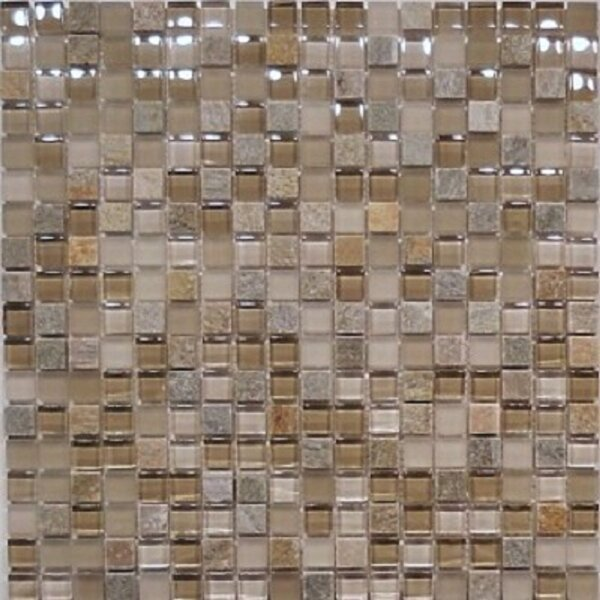 0.63 x 0.63 Natural Stone Mosaic Tile in Sandstone by Travis Tile Sales