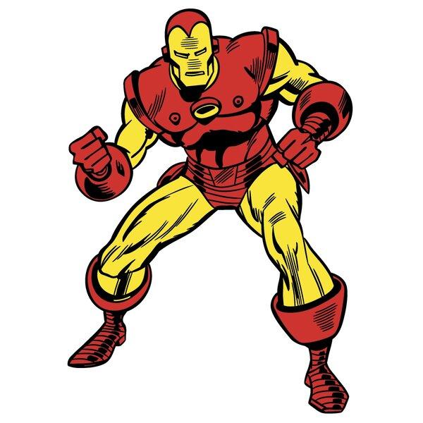 Marvel Comics Iron Man Classic Wall Decal by Wallhogs